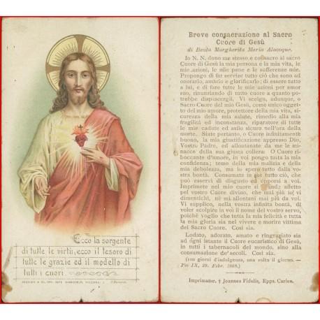 Santino Sacro cuore di Gesù