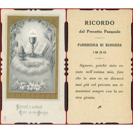 Santino ricordo del prescetto pasquale 1930