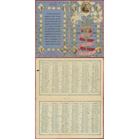Santino calendarietto Sant Antonio anno 1931