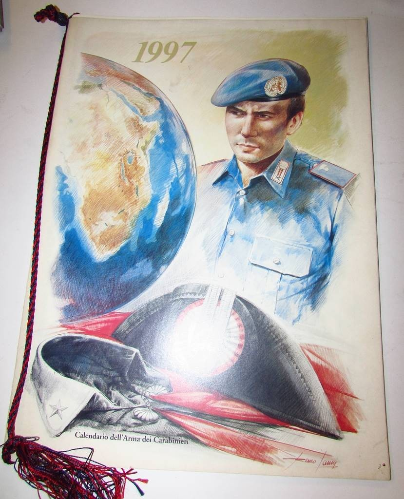 Calendario Carabinieri.Calendario Carabinieri 1997