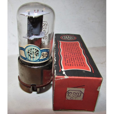 Valvola vintage Fivre 12sq7 gt mai usata