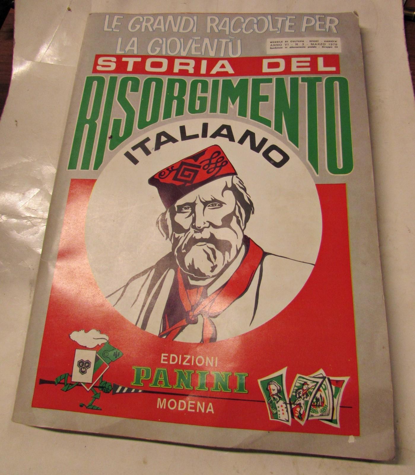 Storia Risorgimento Italiano Album Vuoto Panini